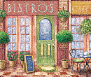 French Bistro Mat Digital Illustration