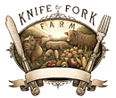 Knife and Fork Farm Label - Design and Illustration
