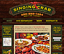 Singing Crab Restaurant website design - class project