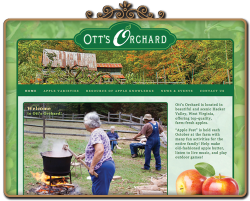 ott's orchard website
